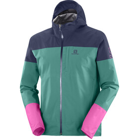 Salomon Outrack Waterproof Jacket Men, verde/blu